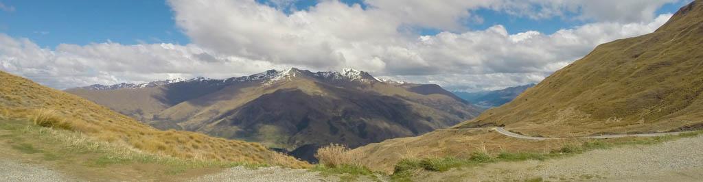 Panorama de Crown Range Summit