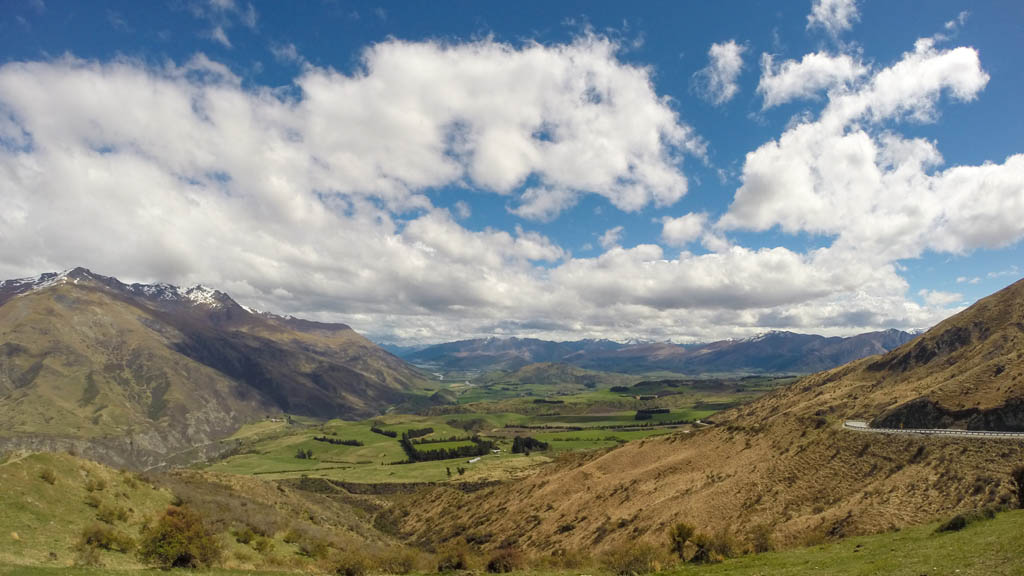 Panaroama de la vallée de Arrowtown