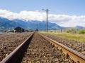 Chemin de fer et Kaikoura Ranges