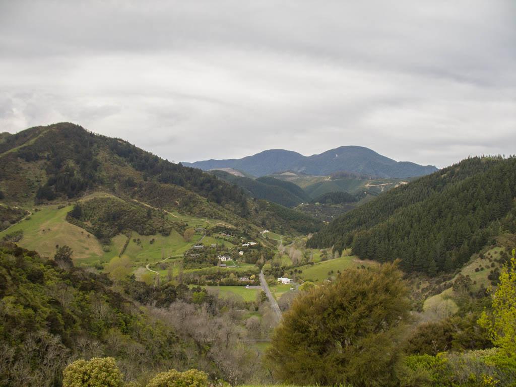 Vue depuis le centre de la Nouvelle-Zélande