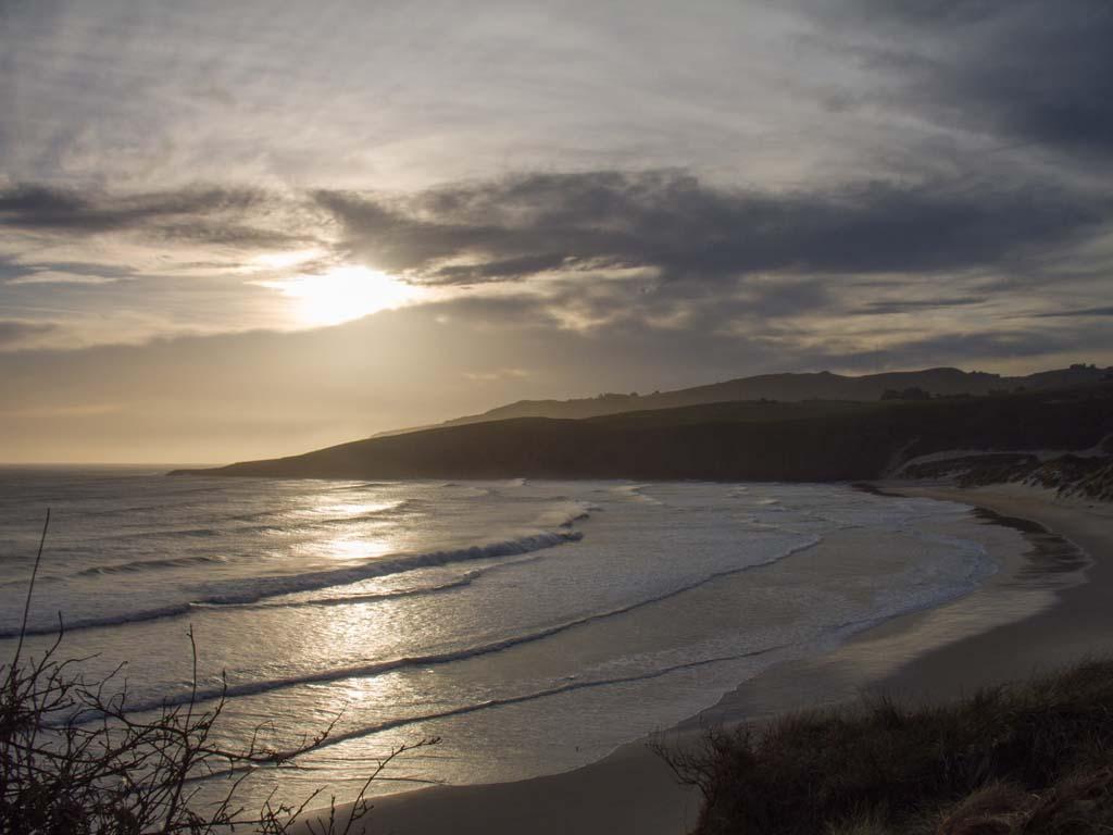 Crépuscule a Sandfly Bay