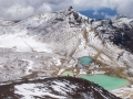 Panorama sur les Emerald Lakes