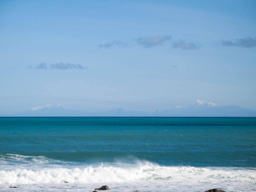 Vue sur les montagnes de l'Île du sud
