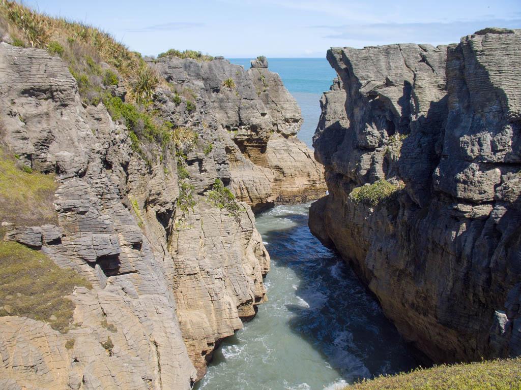 Bras de mer dans les Pancakes Rocks