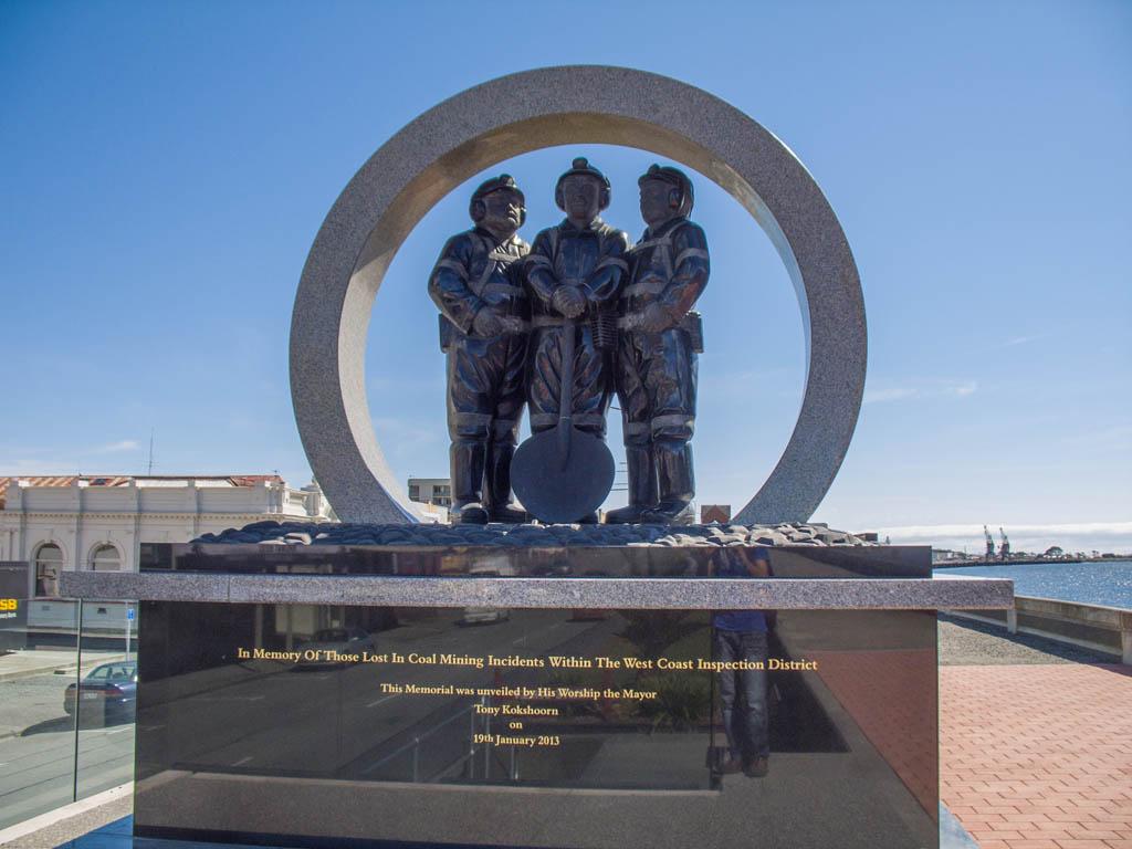 Mémorial des mineurs à Greymouth