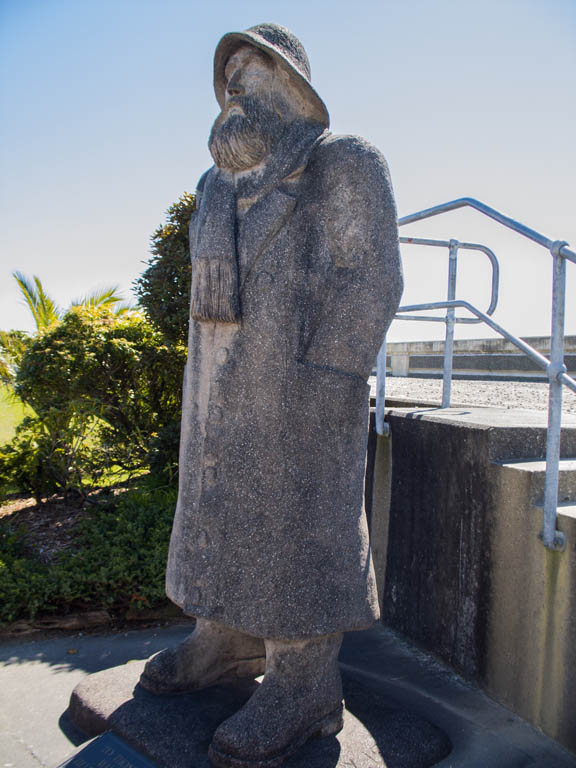 Fisherman statue à Greymouth