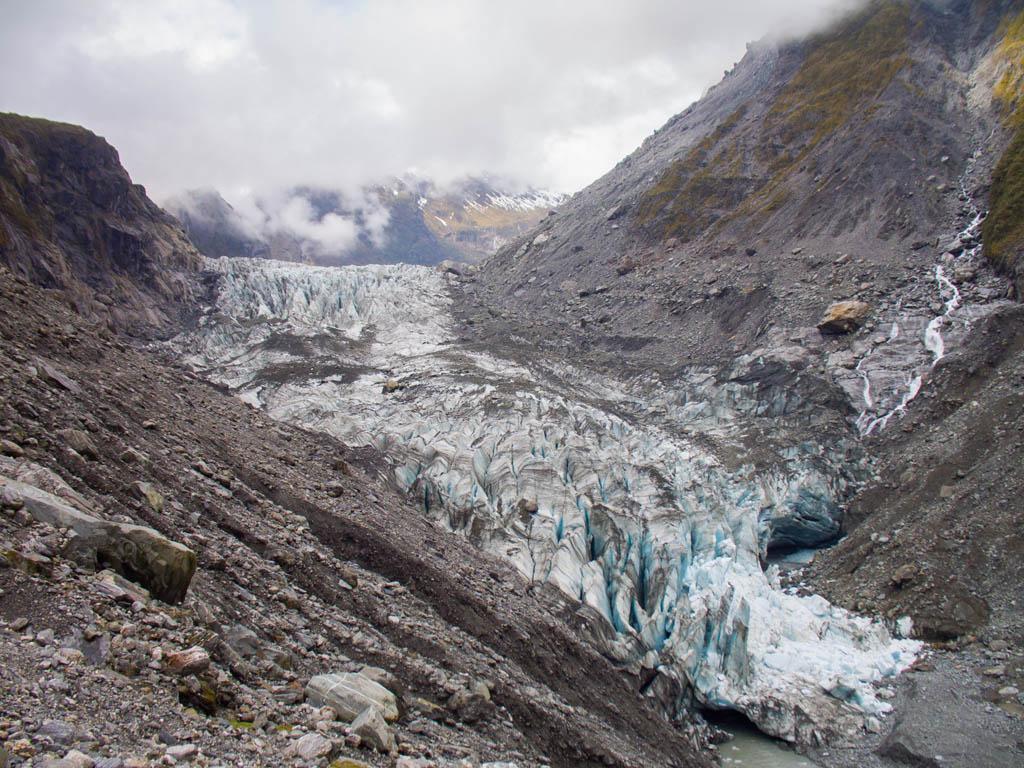 Zoom sur le Fox Glacier