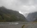 Vallée du Franz Josef Glacier sous les nuages