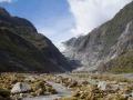 En arrivant au Franz Josef Glacier