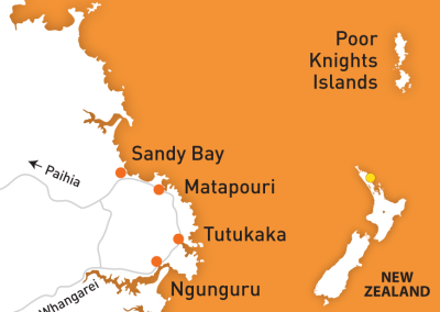 Carte zone Tutukaka