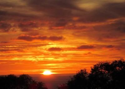 Le levé de soleil vu de la maison