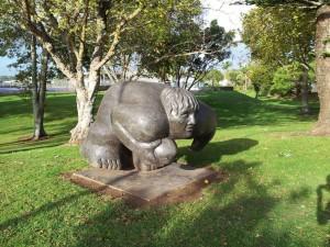 Statue du Rugbyman à Kaitaia