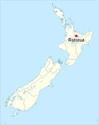 Carte de Rotorua
