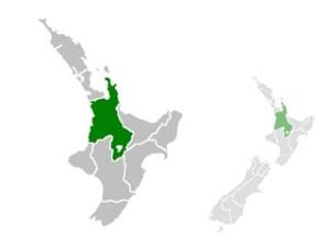 Carte du Waikato