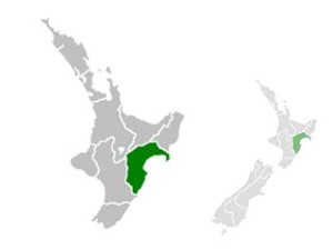 Carte de Hawke's Bay
