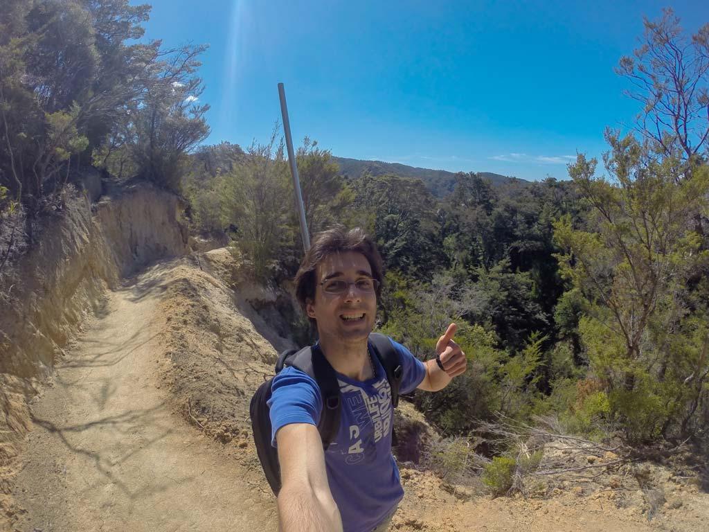 Abel Tasman - Anthony sur la Coastal Track