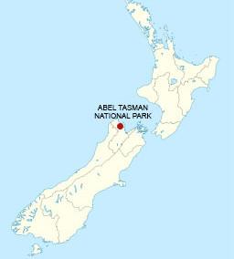 Carte Abel Tasman National Park en Nouvelle-Zélande