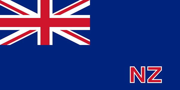 First New Zealand Blue Ensign Flag