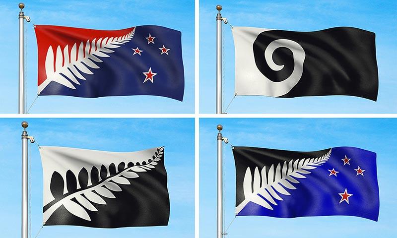 Short List - Les nouveaux drapeaux potentiels de la Nouvelle-Zélande