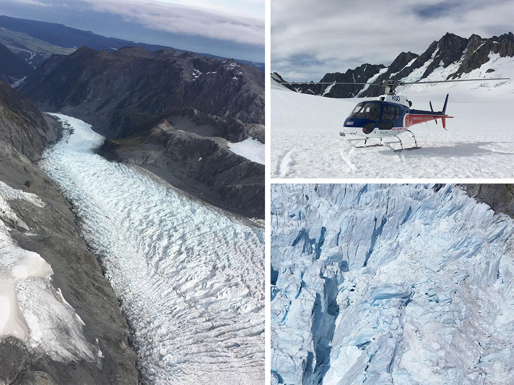 En haut du Franz Josef Glacier