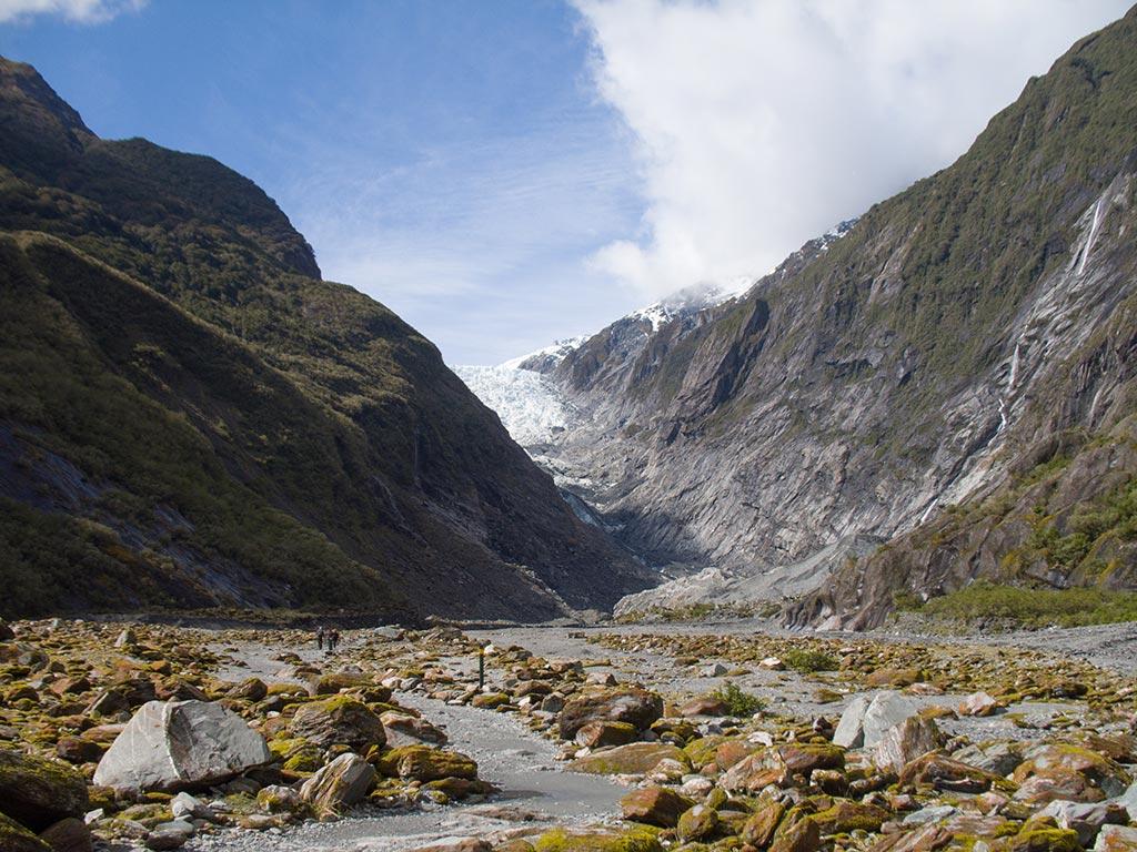 Franz Josef Glacier - Vue de la vallée