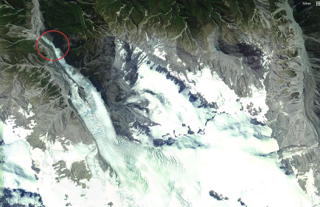 Franz Josef Glacier - Vue satellite