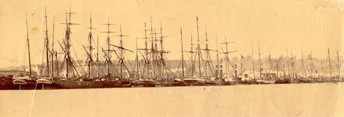 Le port d'Hokitika en 1867