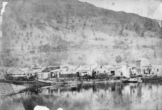 Le vieux Queenstown pendant les années 1860