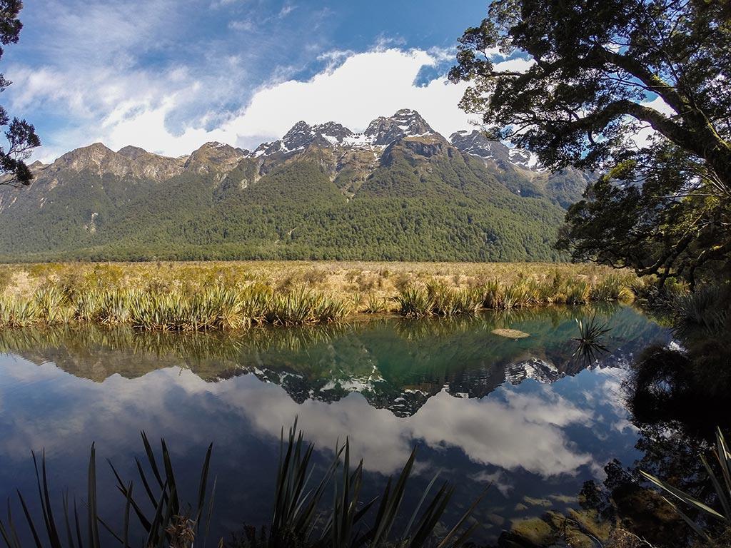 Mirror Lake - Nouvelle-Zélande