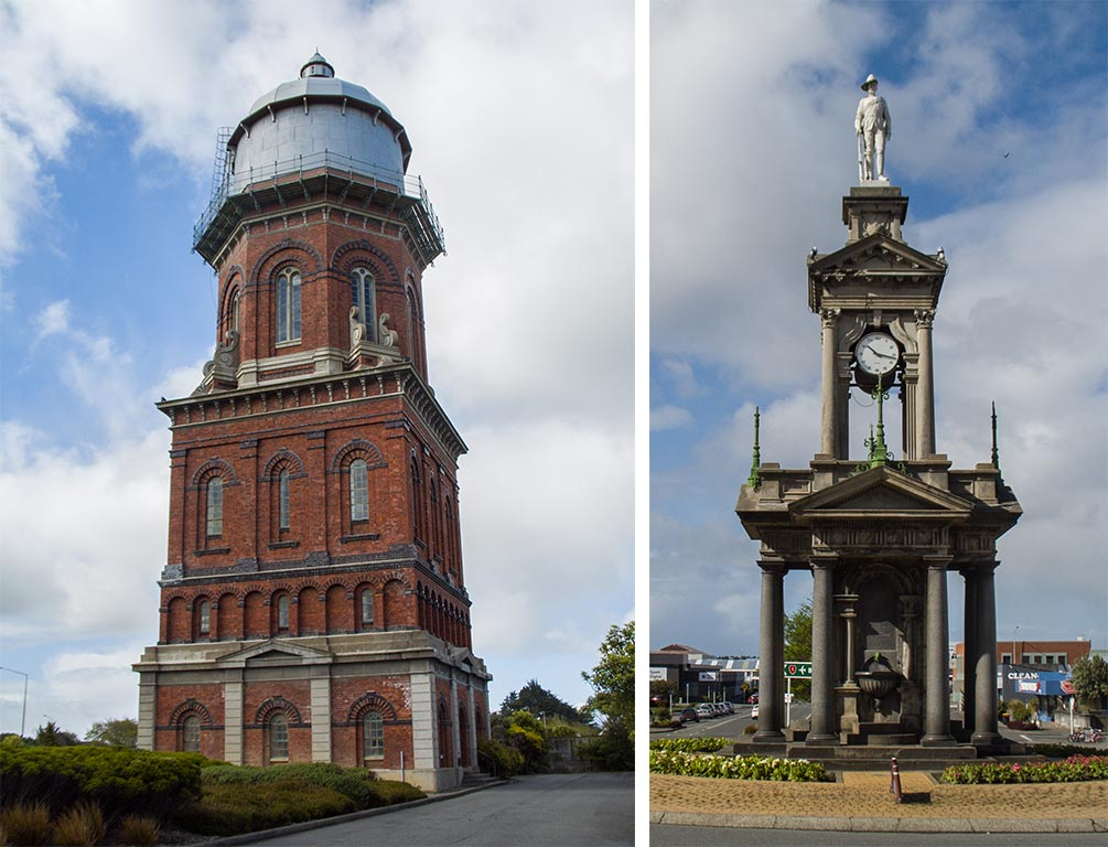 Water Tower and South African War Memorial - Invercargill