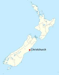 Christchurch en Nouvelle-Zélande