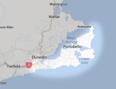 Péninsule d'Otago - Carte