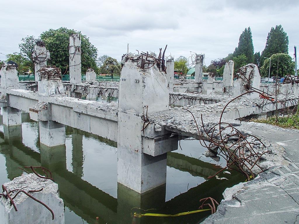 Ruines à Christchurch