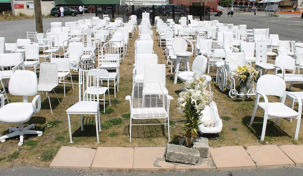 185 Empty Chairs - Christchurch